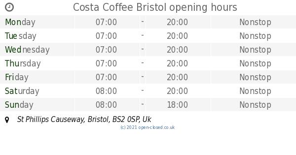 Costa Coffee Bristol Opening Times St Phillips Causeway