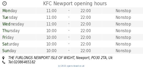 Kfc Newport Opening Times The Furlongs Newport Isle Of Wight