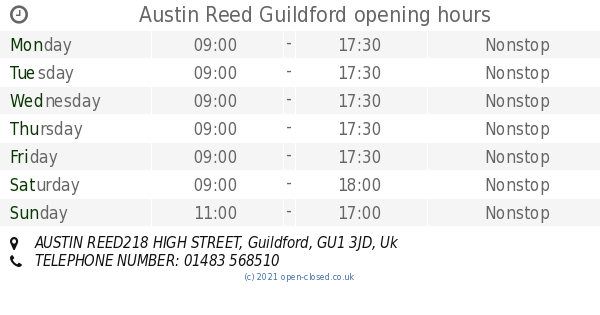 Austin Reed Guildford Opening Times Austin Reed218 High Street