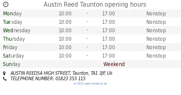 Austin Reed Taunton Opening Times Austin Reed5a High Street