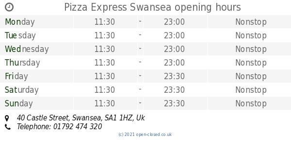 Pizza Express Swansea Opening Times 40 Castle Street