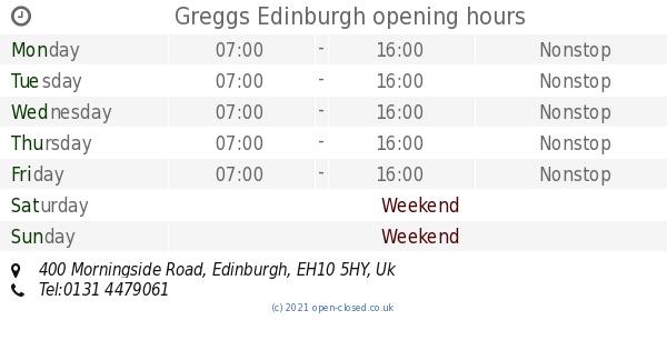 Greggs Edinburgh Opening Times 400 Morningside Road
