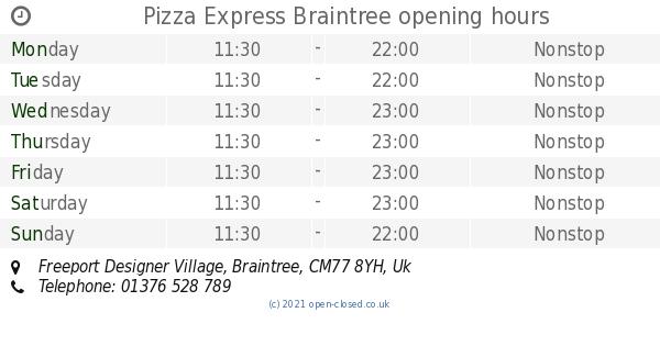 Pizza Express Braintree Opening Times Freeport Designer Village