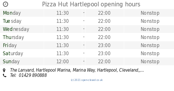 Pizza Hut Hartlepool Opening Times The Lanyard Hartlepool