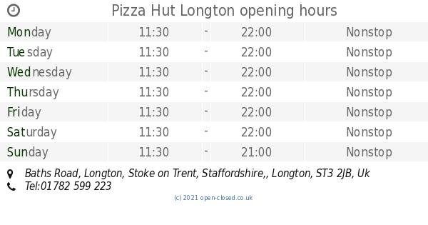 Pizza Hut Longton Opening Times Baths Road Longton Stoke