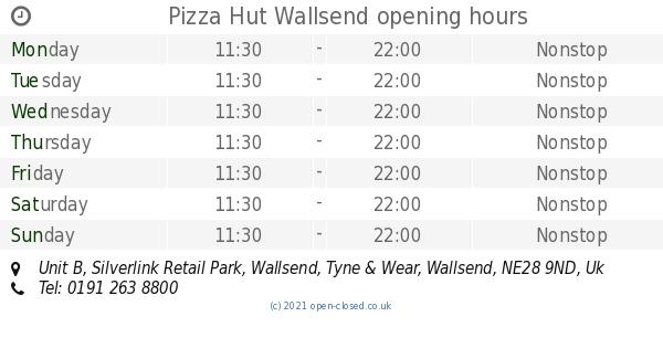 Pizza Hut Wallsend Opening Times Unit B Silverlink Retail