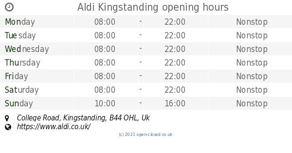 Aldi Kingstanding opening times, College Road