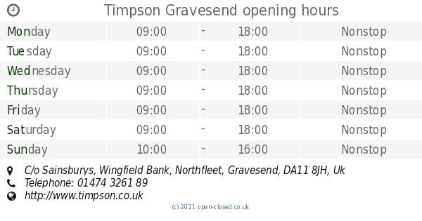 sainsbury's opening hours - photo #48