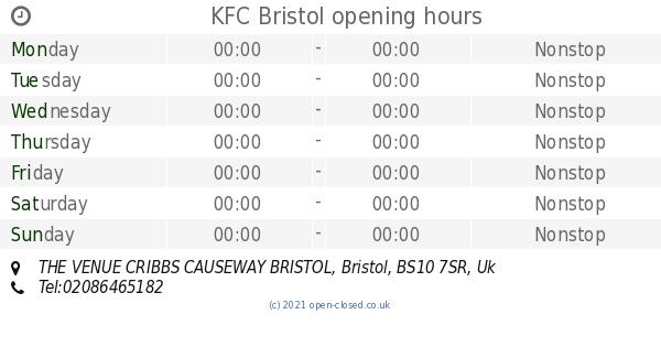 Kfc Bristol Opening Times The Venue Cribbs Causeway Bristol