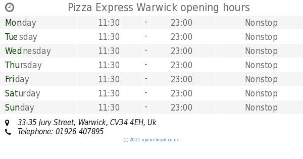 Pizza Express Warwick Opening Times 33 35 Jury Street